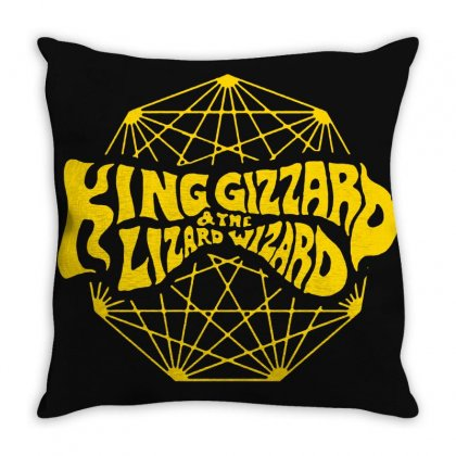 King Gizzard And The Lizard Wizard Throw Pillow Designed By Willo