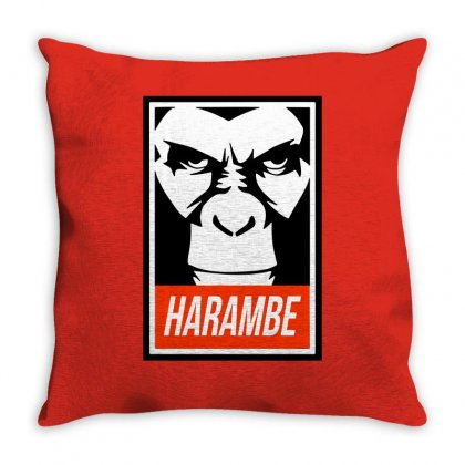 Harambe Throw Pillow Designed By Ismi