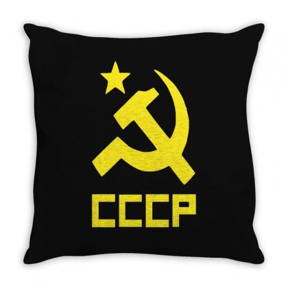 Cccp Ussr Russia Che Revolution Throw Pillow Designed By Teeshop