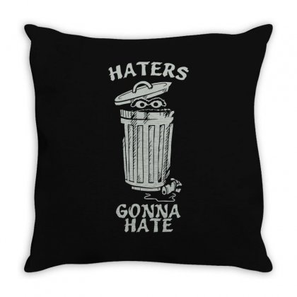 Haters Gonna Hate Throw Pillow Designed By Enjang