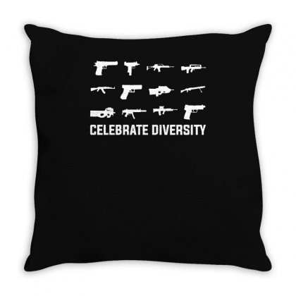 Celebrate Diversity Funny Throw Pillow Designed By Teeshop