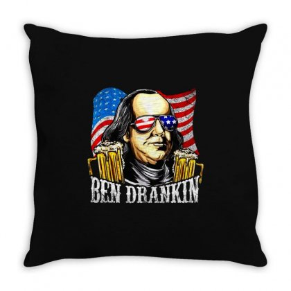 Drankin 4th Of July Throw Pillow Designed By Pinkanzee