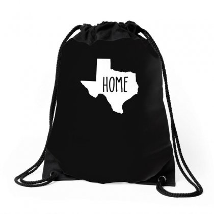 Home Texas Outline Drawstring Bags Designed By Funtee