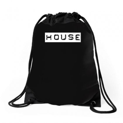 House Club,dance,music,vinyl,rave,dj,cool,funny Drawstring Bags Designed By Funtee