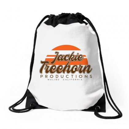 Jackie Treehorn Productions Drawstring Bags Designed By Devanojohnsantos