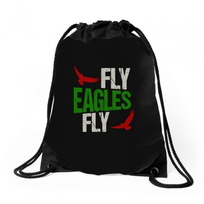 Fly Eagles Fly Drawstring Bags Designed By Scarlettzoe