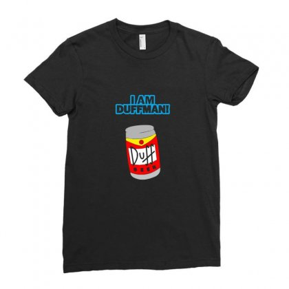 I Am Duff Man Homer Cult Funny Retro Ladies Fitted T-shirt Designed By Funtee
