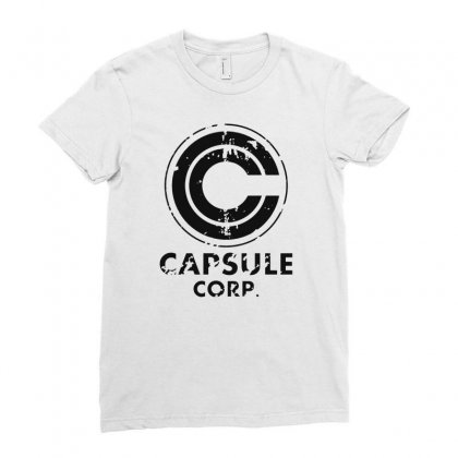 Capsule Corp Ladies Fitted T-shirt Designed By Scarlettzoe