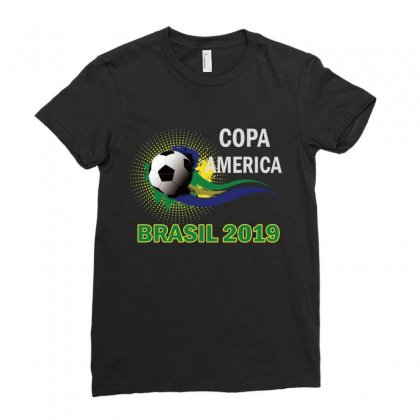 Copa America Brasil 2019 Ladies Fitted T-shirt Designed By Anrora