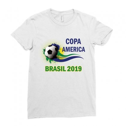 Copa America Brasil 2019n Ladies Fitted T-shirt Designed By Anrora