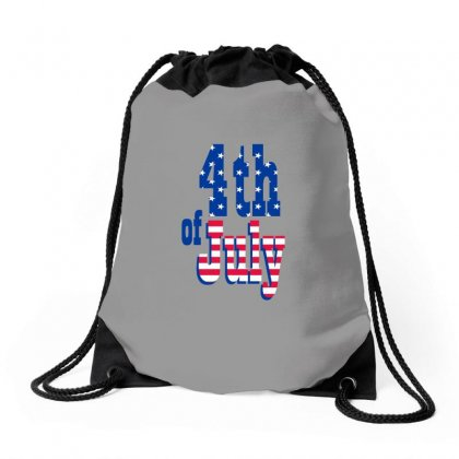 4th Of July Drawstring Bags Designed By Anrora