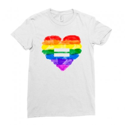 Equality Lgbt Heart Ladies Fitted T-shirt Designed By Sengul