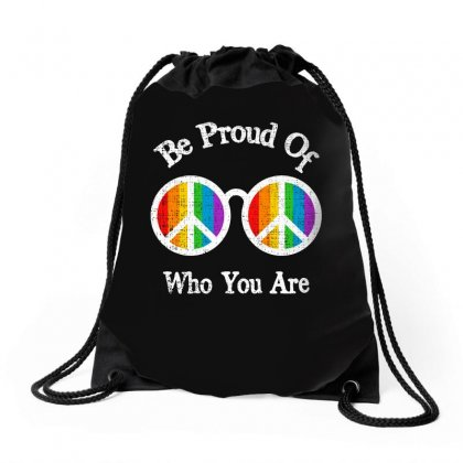 Be Proud Of Who You Are For Dark Drawstring Bags Designed By Sengul