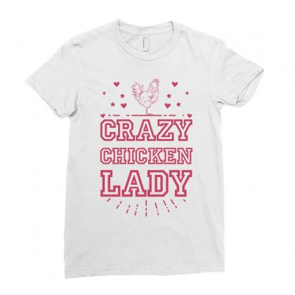 Crazy Chicken Lady Ladies Fitted T-shirt Designed By Sengul