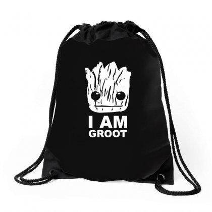 I Am Groot Guardians Of The Galaxy Drawstring Bags Designed By Ismi