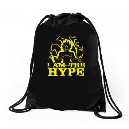 I Am The Hype Drawstring Bags Designed By Ismi