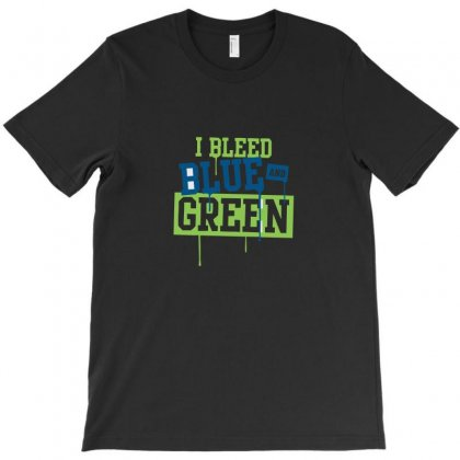 I Bleed Blue And Green T-shirt Designed By Ismi
