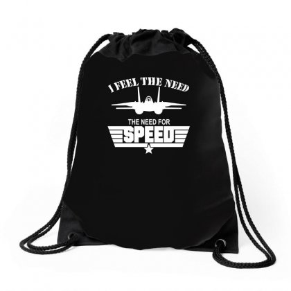I Feel The Need The Need For Speed Drawstring Bags Designed By Ismi