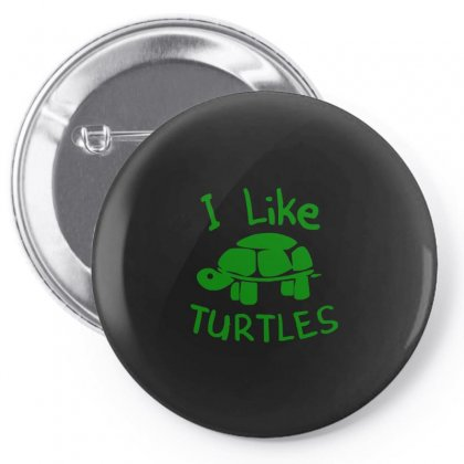 I Like Turtles Pin-back Button Designed By Ismi