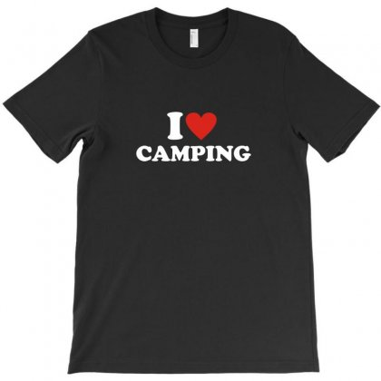 I Love Heart Camping T-shirt Designed By Ismi