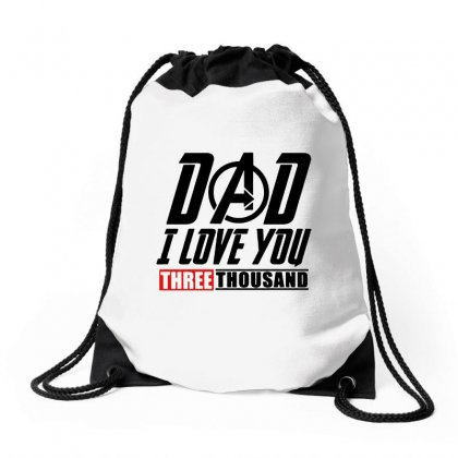 I Love You 3000 Three Thousand Times Drawstring Bags Designed By Willo