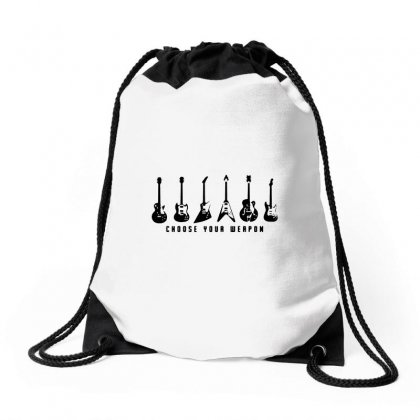 Choose Your Weapon(1) Drawstring Bags Designed By Teeshop