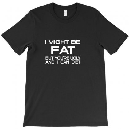 I Might Be Fat Mens T-shirt Designed By Ismi