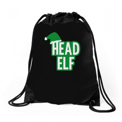 Christmas Head Elf Drawstring Bags Designed By Teeshop