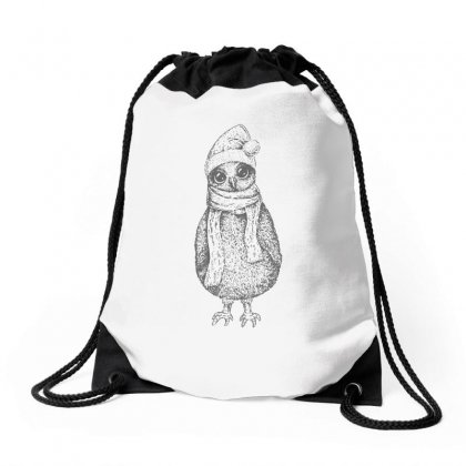 Christmas Owl Funny Drawstring Bags Designed By Teeshop