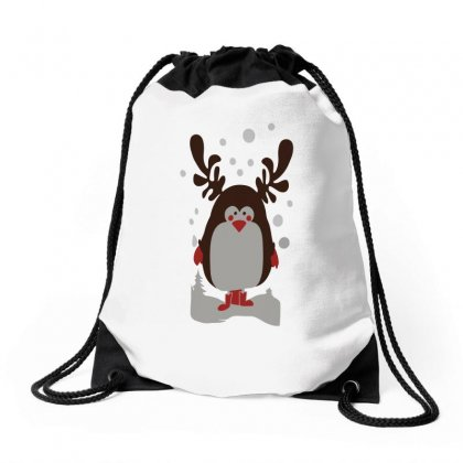 Christmas Penguin Drawstring Bags Designed By Teeshop