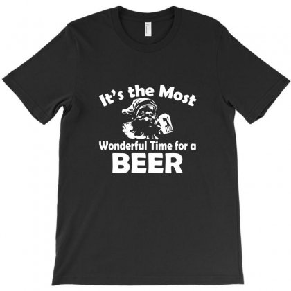 Christmas Shirt It's The Most Wonderful Time For Beer Funny T-shirt Designed By Teeshop