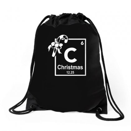 Christmas Periodic Table Of Elements Drawstring Bags Designed By Teeshop