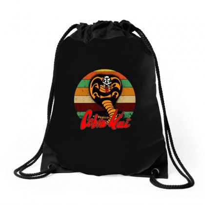 Cobra Kai In The Karate Kid Drawstring Bags Designed By Alan