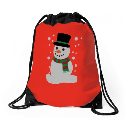 Christmas Snowman Drawstring Bags Designed By Teeshop
