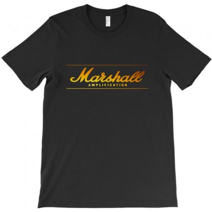 Marshall Amp   Cool Gold T-shirt Designed By Alan