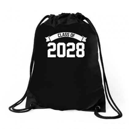 Class Of 2028 Novelty High School Elementary Drawstring Bags Designed By Teeshop