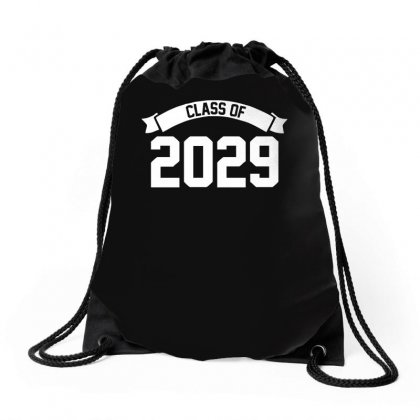 Class Of 2029 Novelty High School Elementary Drawstring Bags Designed By Teeshop