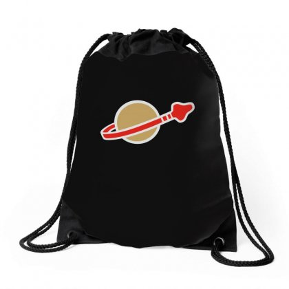 Classic Space Drawstring Bags Designed By Teeshop