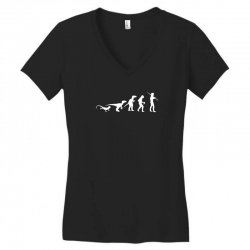 icke evolution t shirt   funny Women's V-Neck T-Shirt | Artistshot