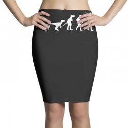 icke evolution t shirt   funny Pencil Skirts | Artistshot