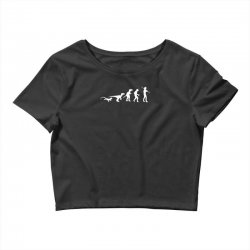 icke evolution t shirt   funny Crop Top | Artistshot