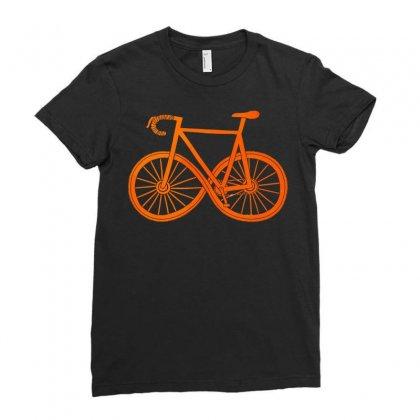 Cycle Forever Ladies Fitted T-shirt Designed By Equinetee