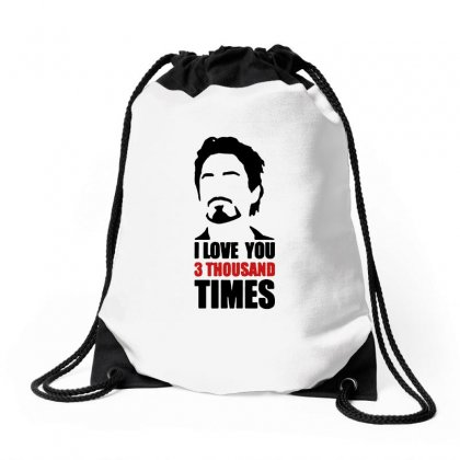 I Love You 3000 Three Thousand Times Drawstring Bags Designed By Michelziud