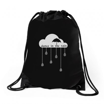 Dance In The Rain Drawstring Bags Designed By Equinetee