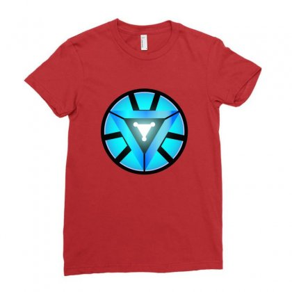 Arc Reactor   New Element Ladies Fitted T-shirt Designed By Michelziud