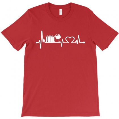 Drums Heartbeat   Funny Drummer T-shirt Designed By Michelziud