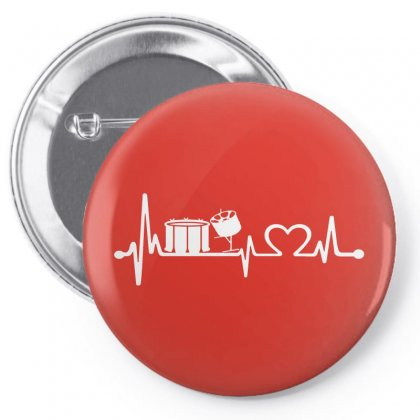 Drums Heartbeat   Funny Drummer Pin-back Button Designed By Michelziud
