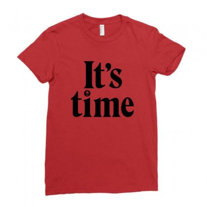 It's Time   Gough Whitlam Ladies Fitted T-shirt Designed By Michelziud