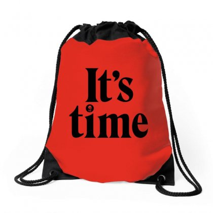 It's Time   Gough Whitlam Drawstring Bags Designed By Michelziud