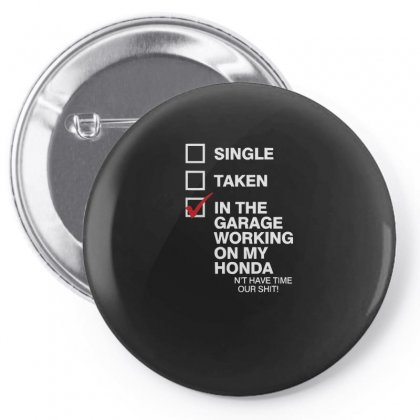 In The Garage Working On My Honda Pin-back Button Designed By Enjang